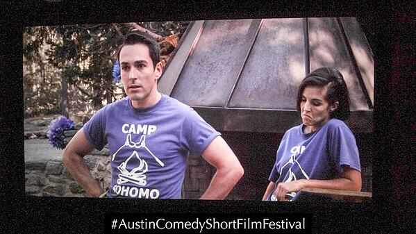 Austin Comedy Short Film Festival Fall 2018 Event Photo Gay Camp
