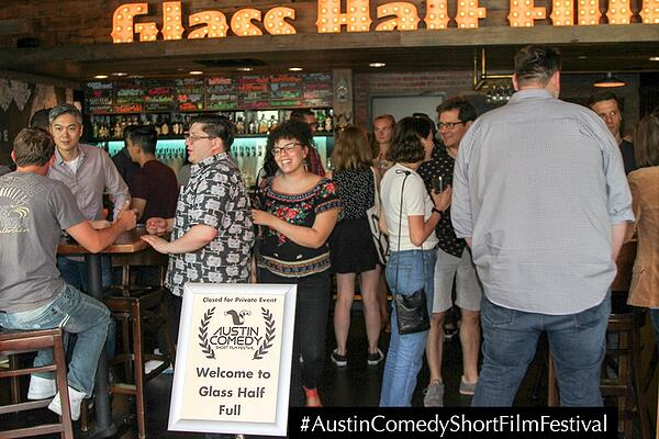 Austin Comedy Short Film Festival Fall 2018 Event Photo Glass Half Full