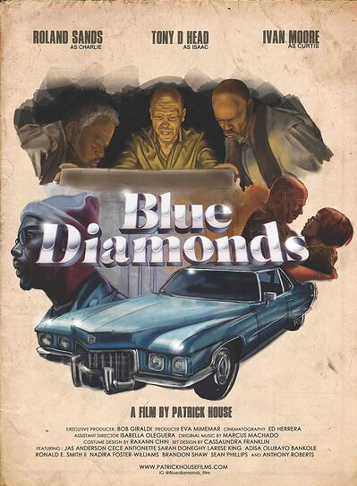 Blue-Diamonds-Poster