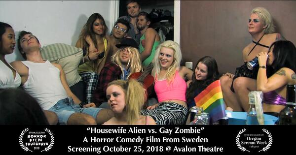 Housewife Alien vs Gay Zombie-Party copy