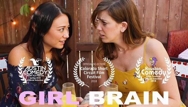 Houston Comedy Film Festival Girl-brain-Poster